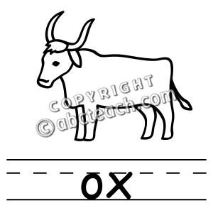 clip art basic words ox b w clipart panda free clipart images rh clipartpanda com ox clipart black and white ox cart clipart