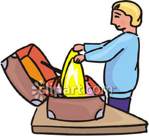 A Person Packing | Clipart Panda - Free Clipart Images Packing Luggage Clipart