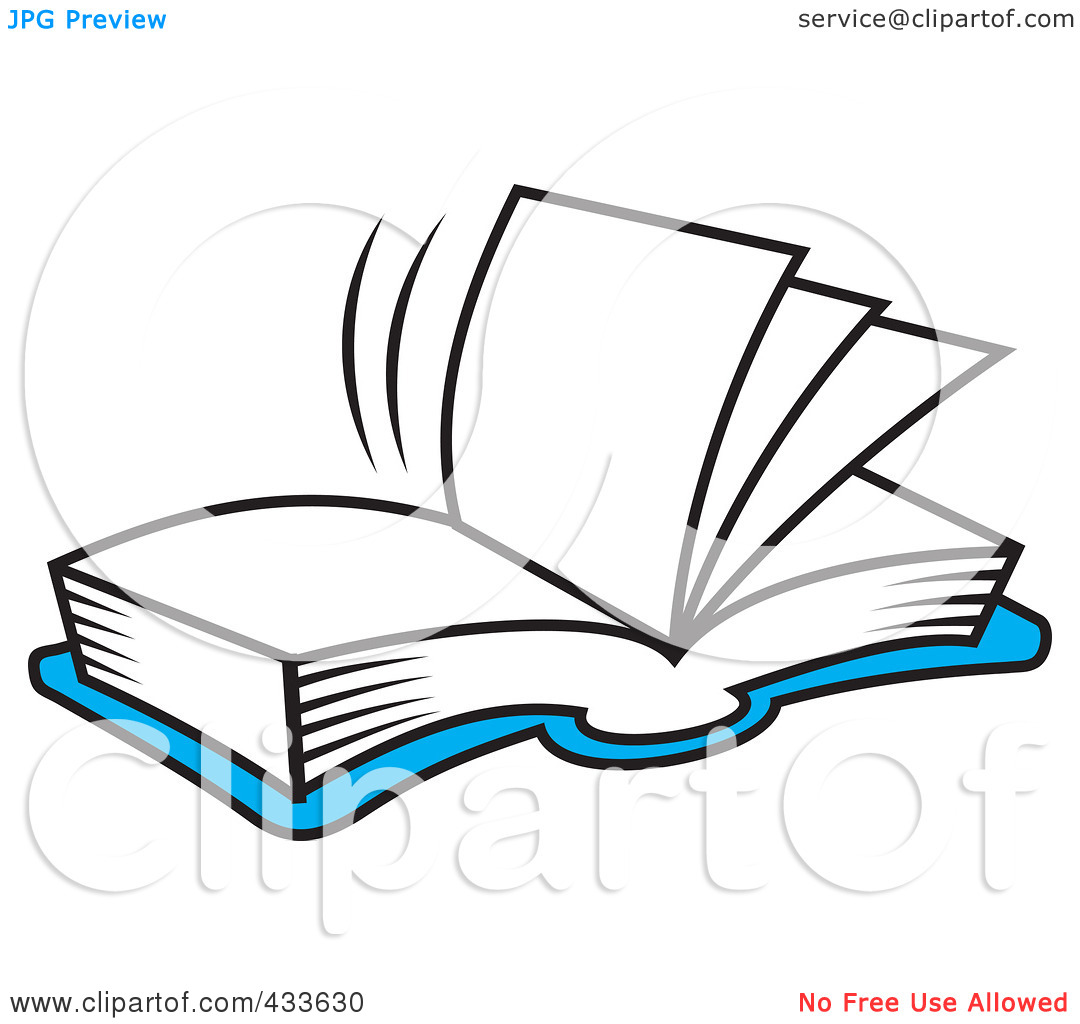 clipart open book blank pages - photo #25