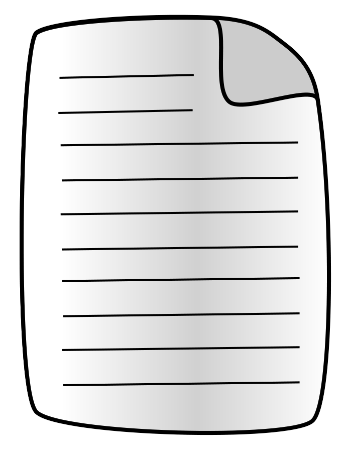 Page Or Document Clipart