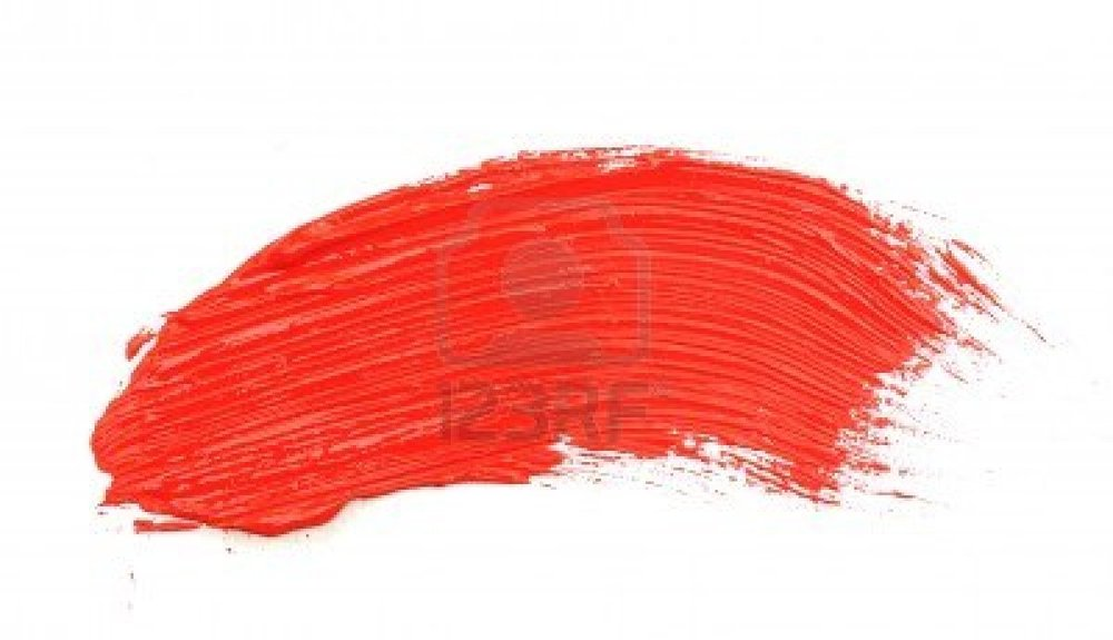 Red Paint Stroke Vector