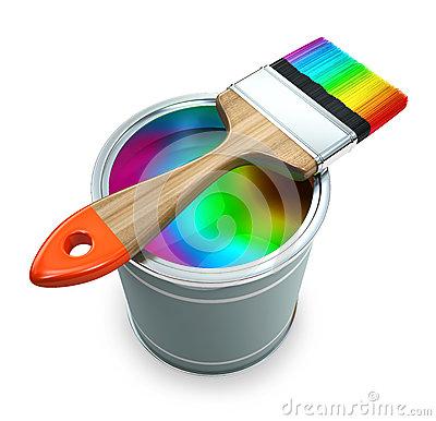 paint bucket and brush - photo #23