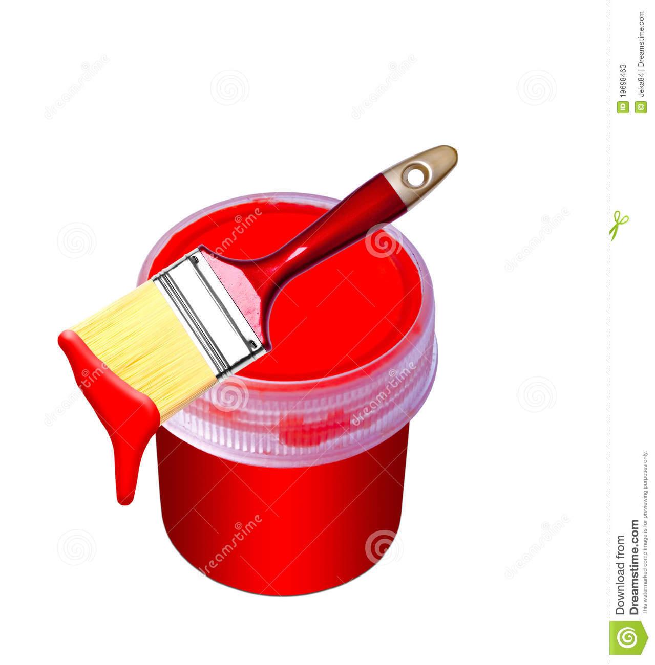 paint bucket and brush - photo #1