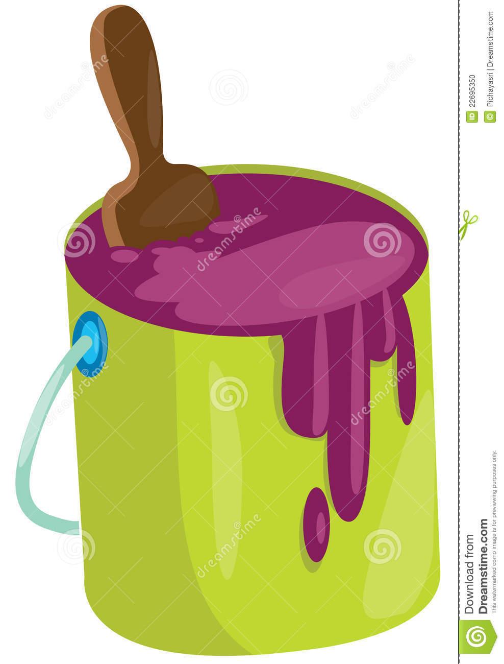 paint bucket and brush - photo #36