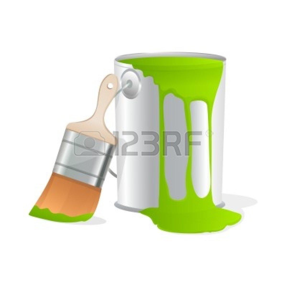 paint bucket and brush - photo #10