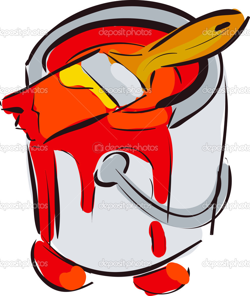 Paint Bucket With Brush Red Clipart Panda Free Clipart Images