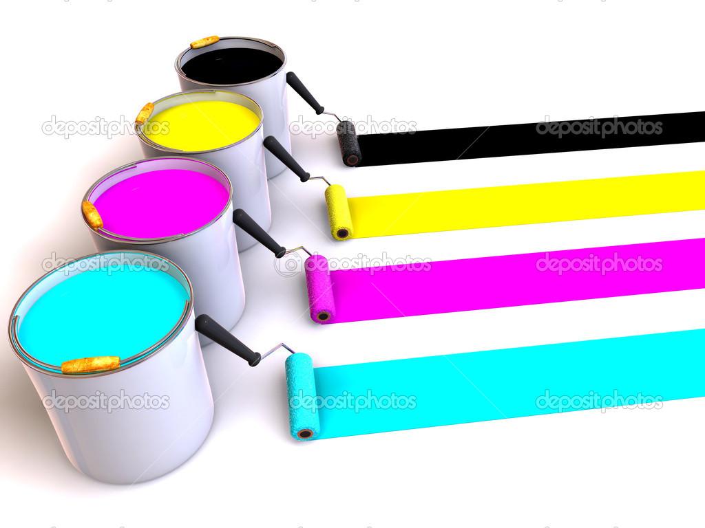 paint bucket and brush - photo #3