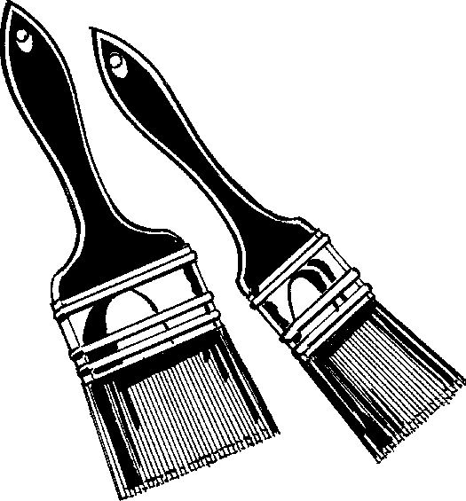paintbrush clipart black and white clipart panda free