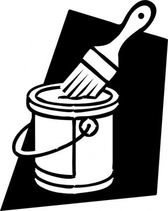 Paint Brush Clip Art Black And White | Clipart Panda ...