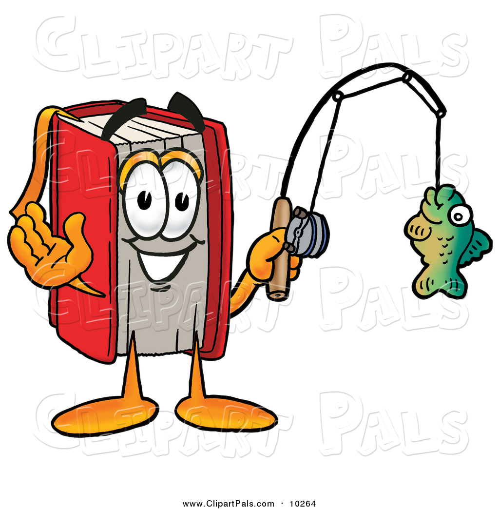 Pal clipart of a red book clipart panda free clipart for Batman fishing pole