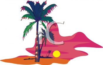 hawaii sunset on the beach clipart panda free clipart