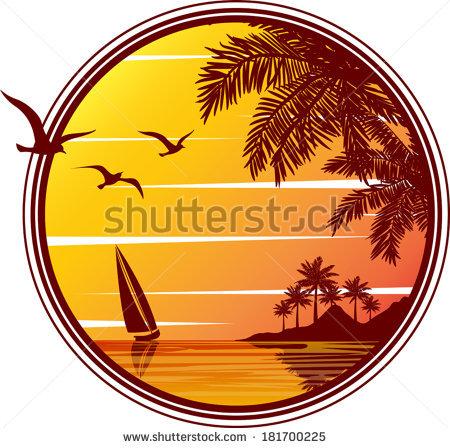 Tropical Beach Sunset Sunrise