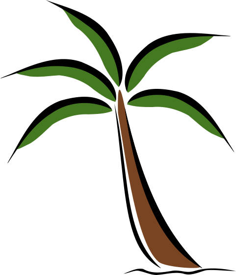 free clipart palm tree beach - photo #37