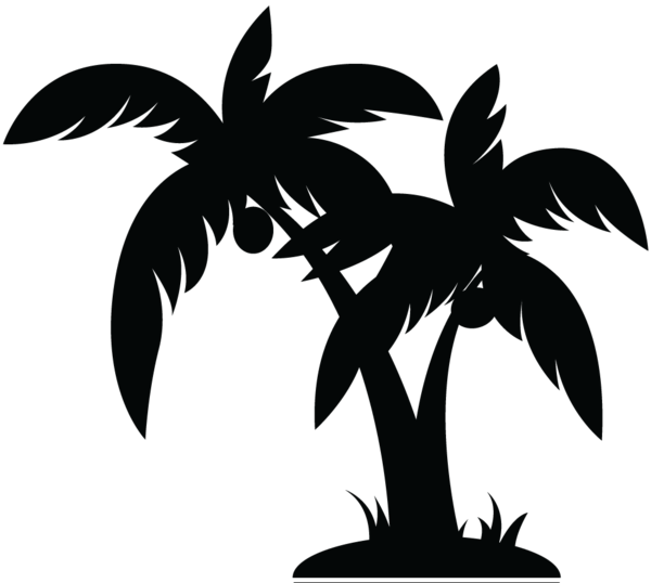 palm tree clipart black and white clipart panda free