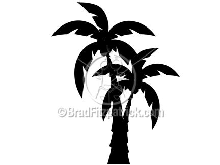 Black Cartoon Palm Tree Black Cartoon Palm Tree