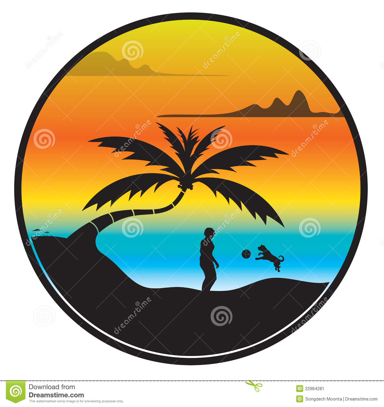 Palm Tree Beach Sunset Clip Clipart Panda Free Clipart Images