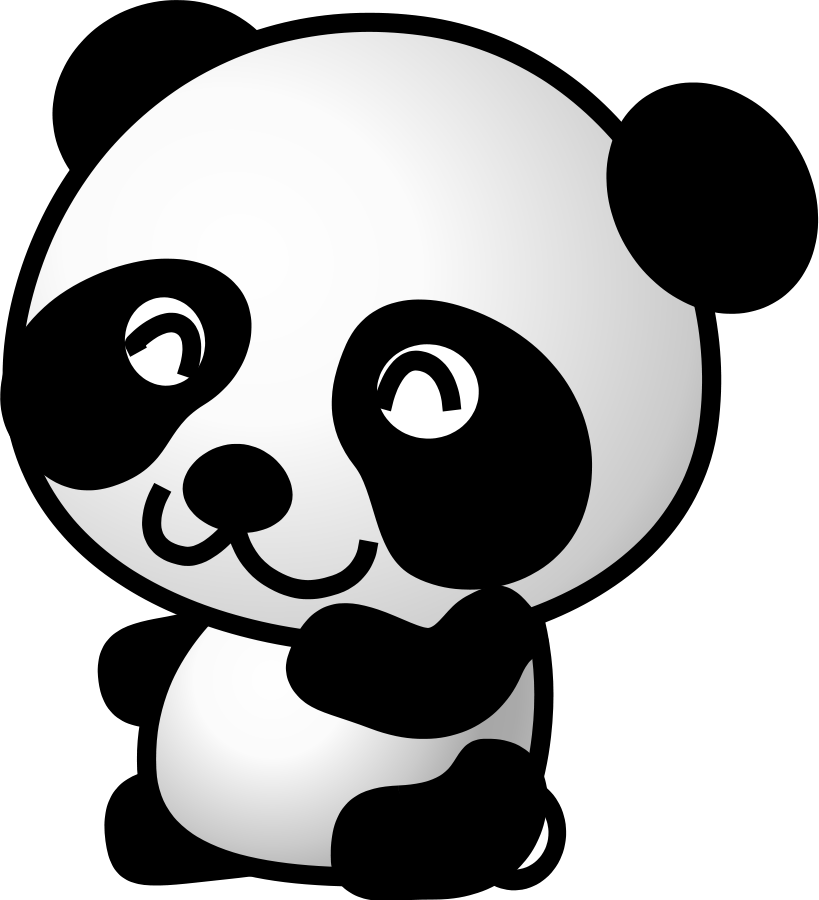 Panda Clipart Black And White | Clipart Panda - Free ...