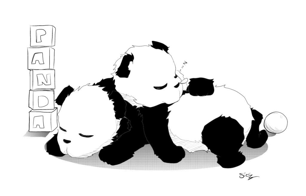 Panda coloring pages clipart panda free clipart images - Coloriage de panda kawaii ...
