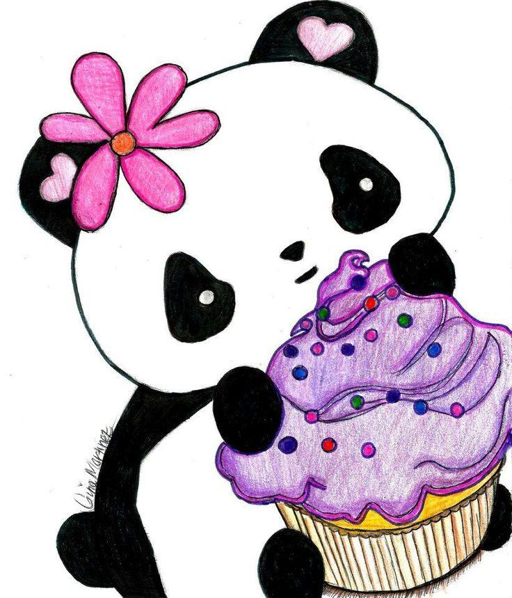 Kawaii Panda/Cupcake-Drawing | Clipart Panda - Free ...