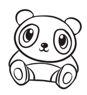 How To Draw A Cute Panda Step Clipart Panda Free Clipart Images