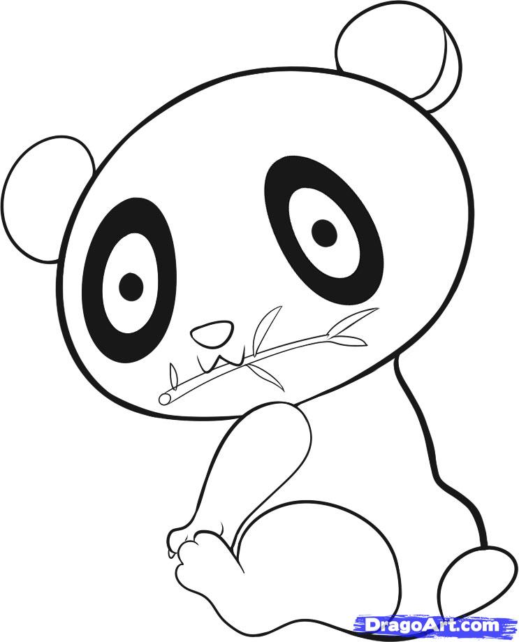 How To Draw An Easy Panda Step Clipart Panda Free Clipart Images