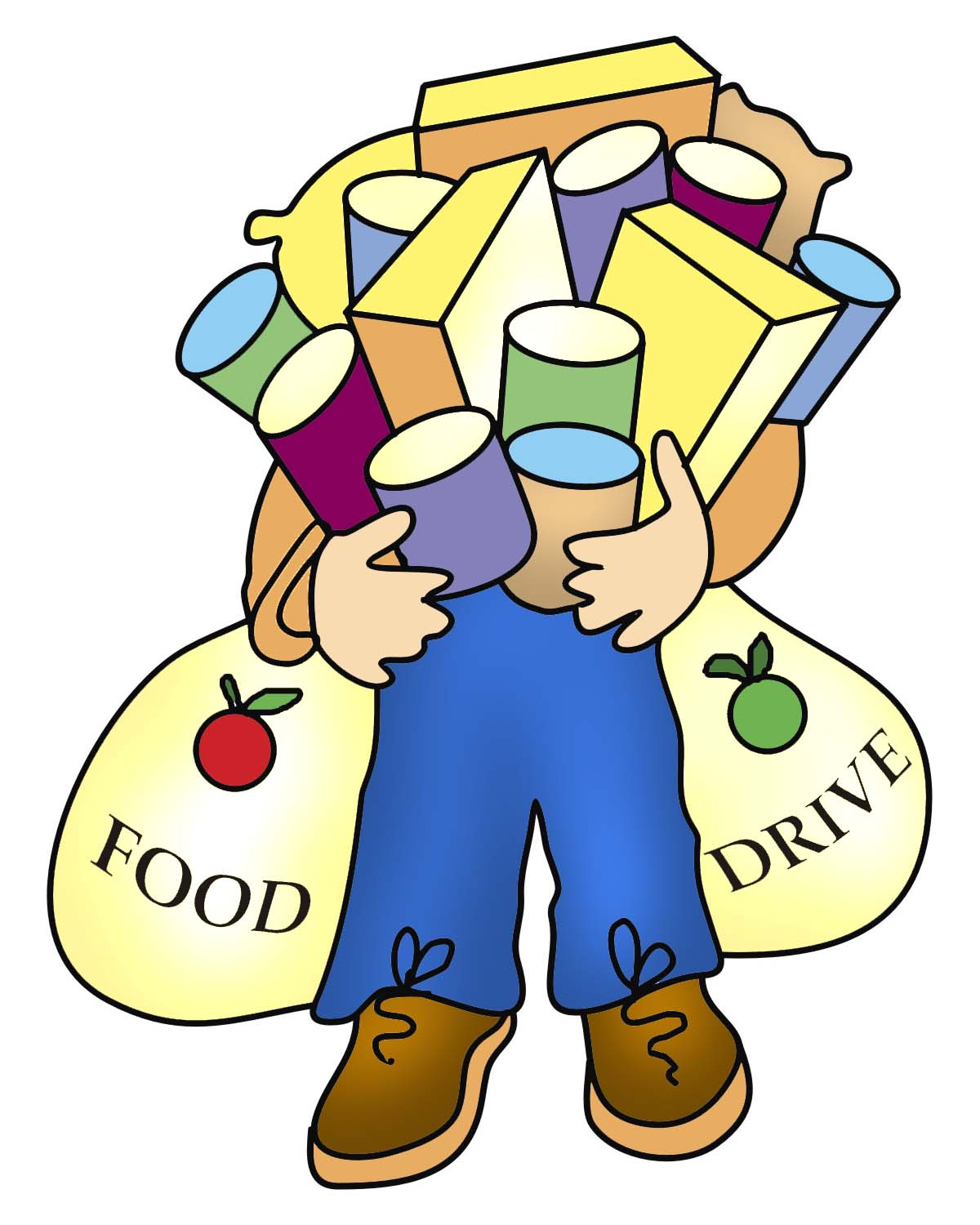 Food Bank Donations Clipart