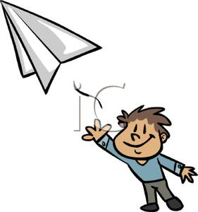Flying Paper Airplane Clipart | Clipart Panda - Free Clipart Images