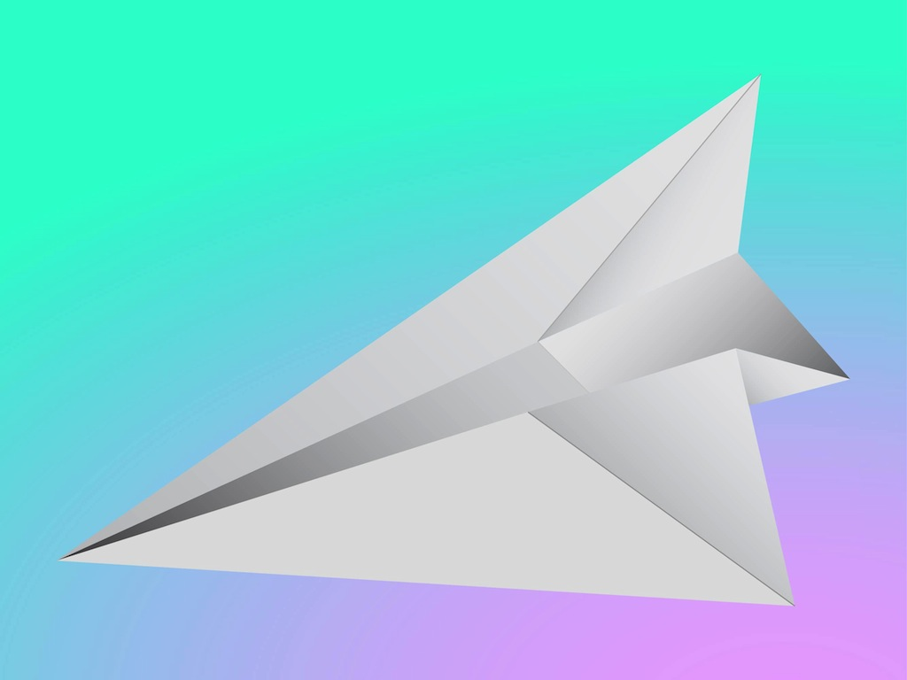 Paper Airplane Vector Clipart Panda Free Clipart Images