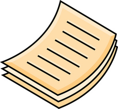 Essay paper clipart free