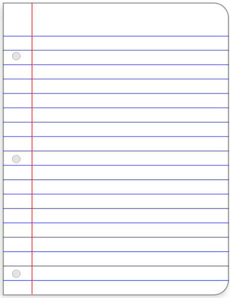 Lined Paper Clipart | Clipart Panda - Free Clipart Images