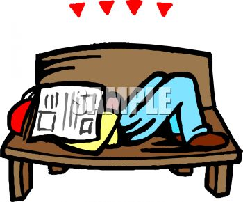 park-bench-clipart-black-and-white-0511-0907-1220-3957 Man Sleeping on    Park Bench Clipart Black And White