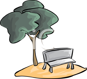 park-clipart-0511-1001-2303-4046 Tree Over a Park Bench clipart image    Park Bench Clipart Black And White
