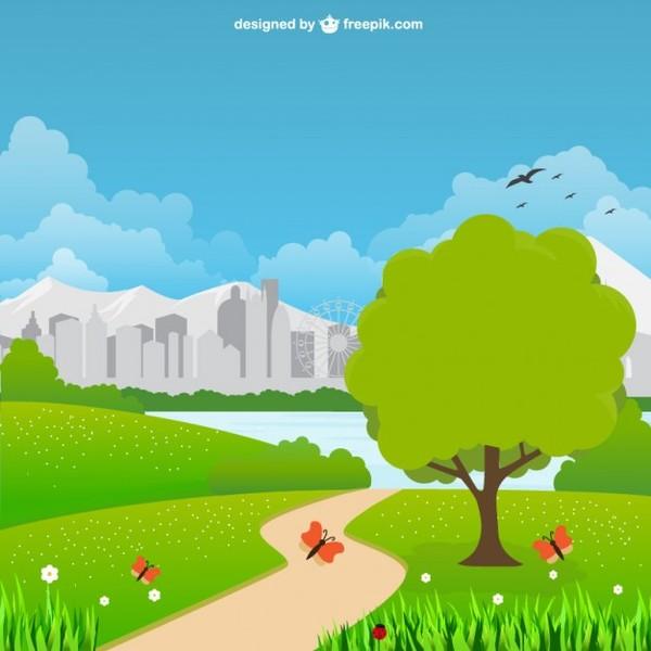 Landscape Design In A Day: Park Clipart