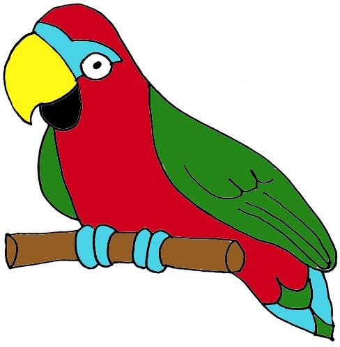 Parrot Clipart Black A...