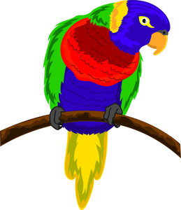 Flying Parrot Stock Vector Illustration And Royalty Free Flying Parrot  Clipart