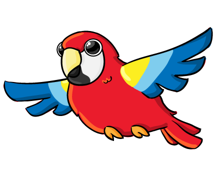 Image result for parrot  clipart