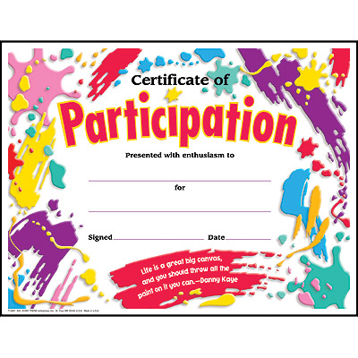 Participation clipart clipart panda free clipart images for Certificate of participation template ppt