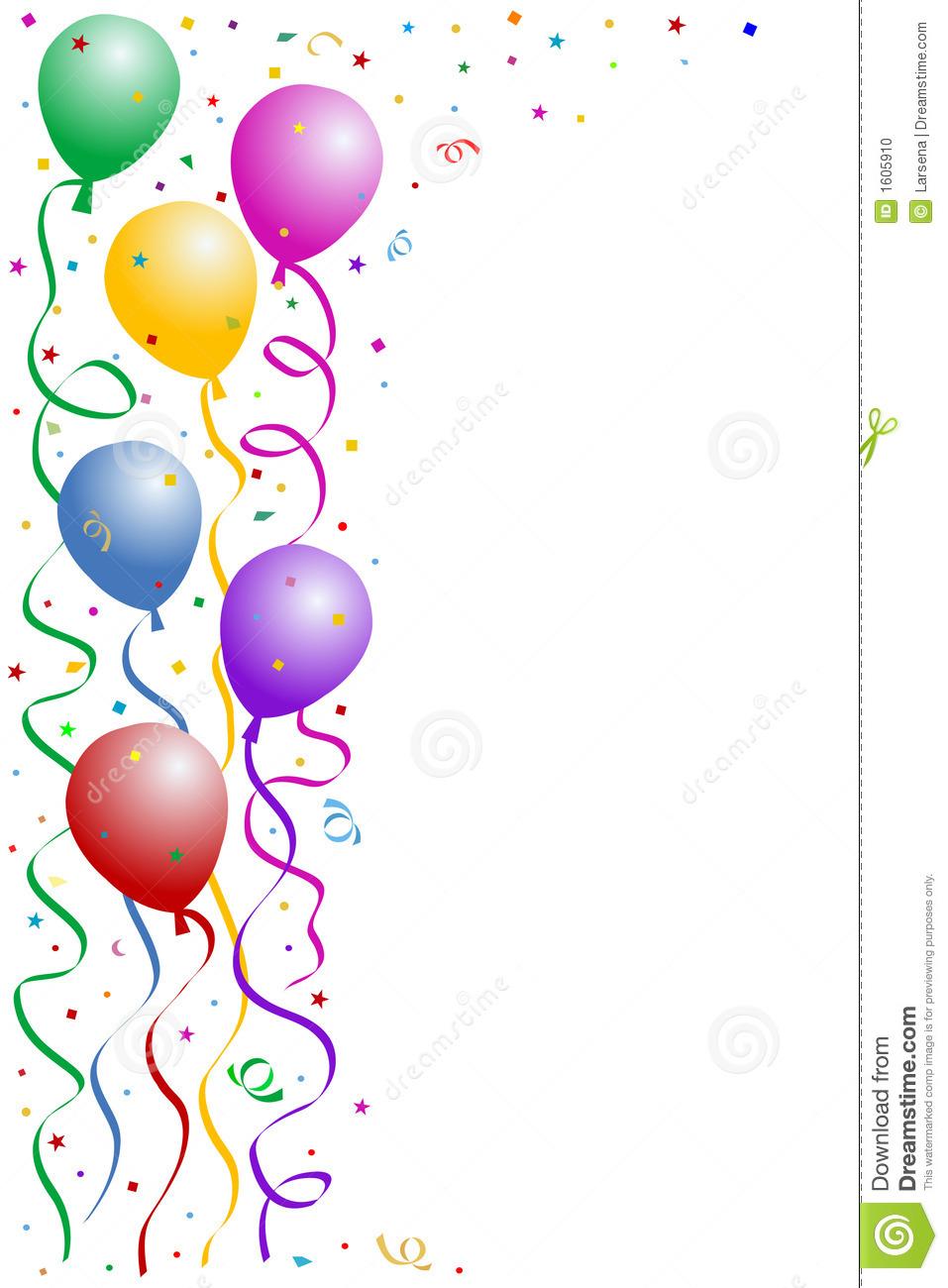 free clip art borders balloons - photo #32