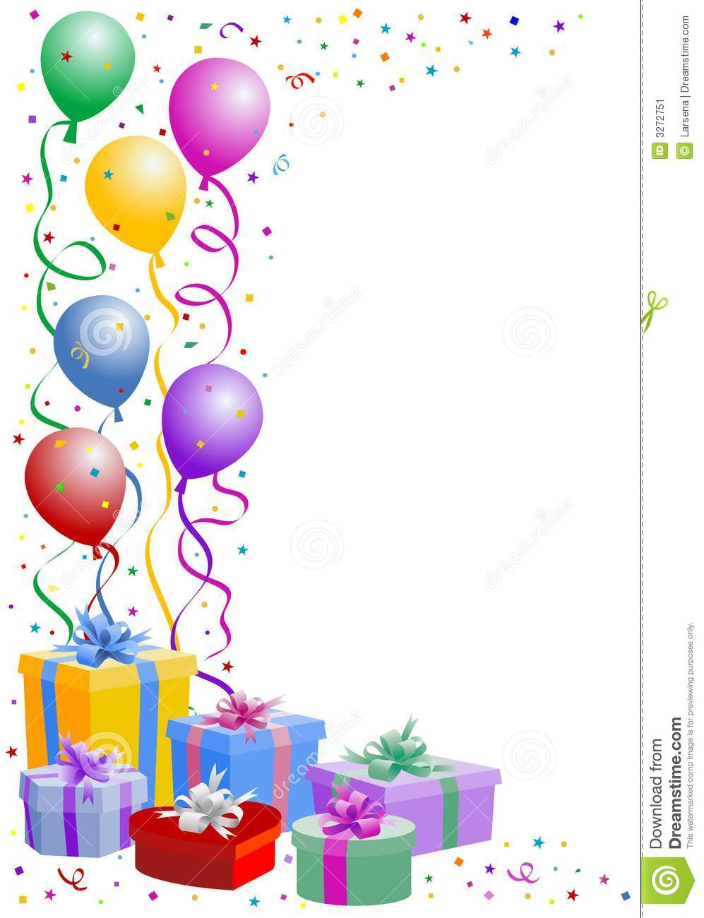 Party Balloons And Confetti Clipart Panda Free Clipart