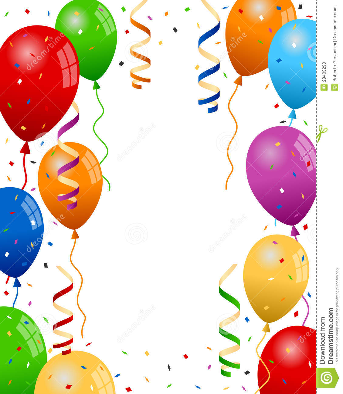clipart balloons and streamers - photo #25