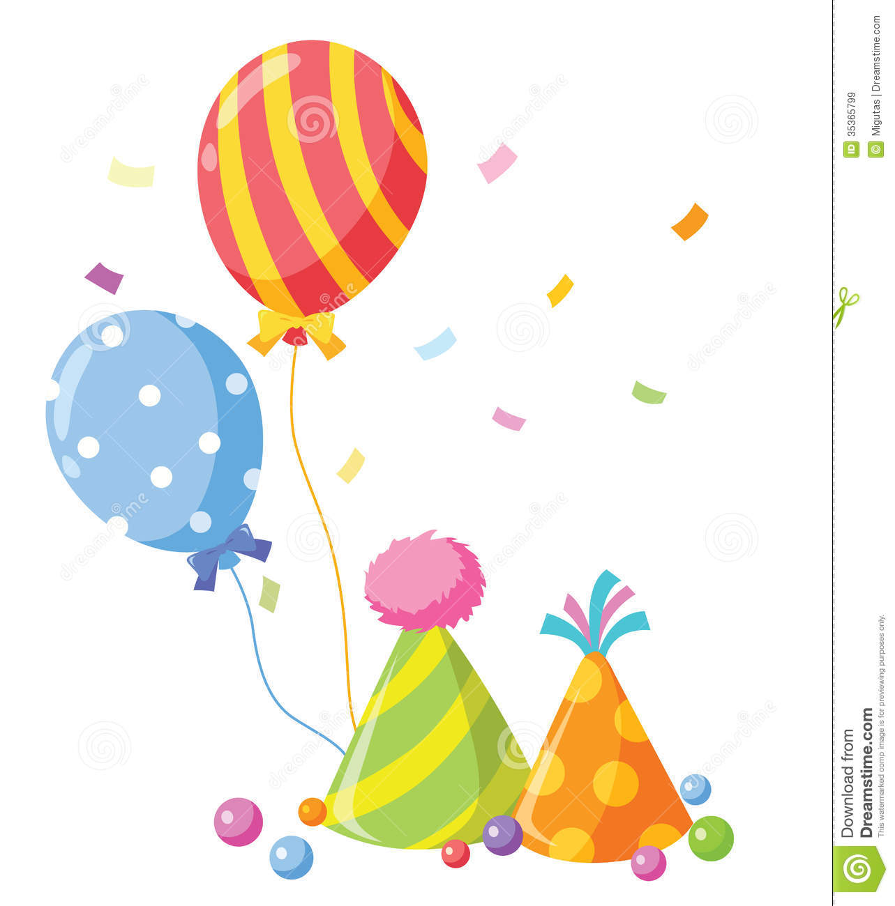 Party Balloons And Confetti | Clipart Panda - Free Clipart ...