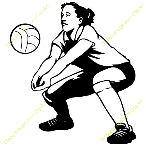 volleyball setting clipart - photo #3