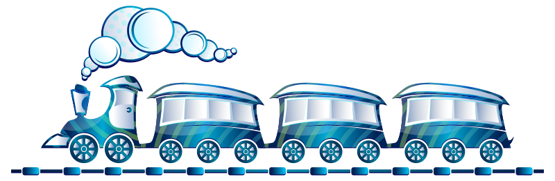 Passenger Train Clipart