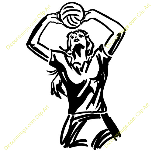 volleyball setting clipart - photo #1