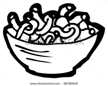 Noodle Clipart Black A...