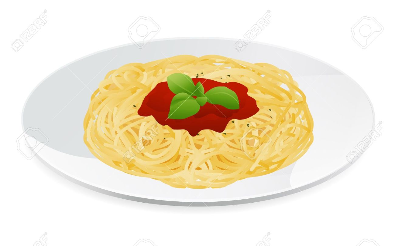pasta-clipart-12489638-Vector-illustration-of-spaghetti-bolognese-with ...