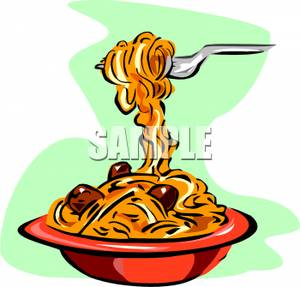 Bowl of Pasta Clip Art