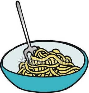 Bowl of Pasta Clip Art