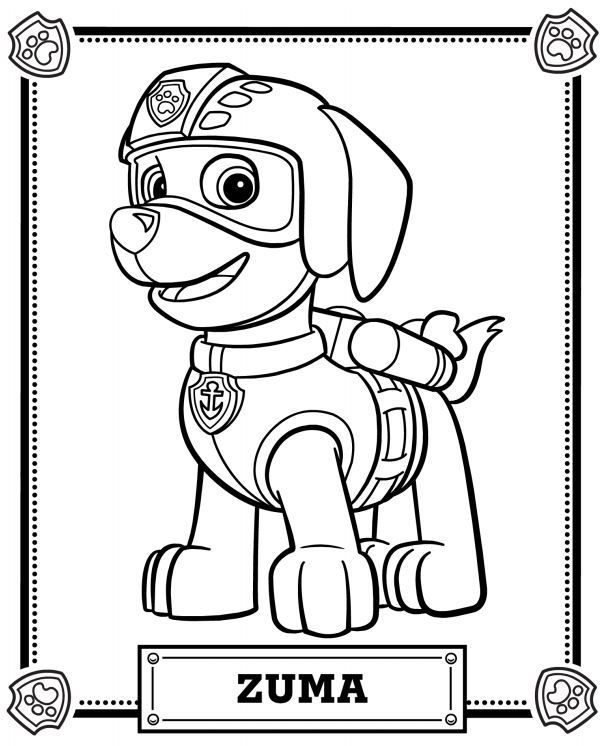 clipart info - Paw Patrol Coloring Pages