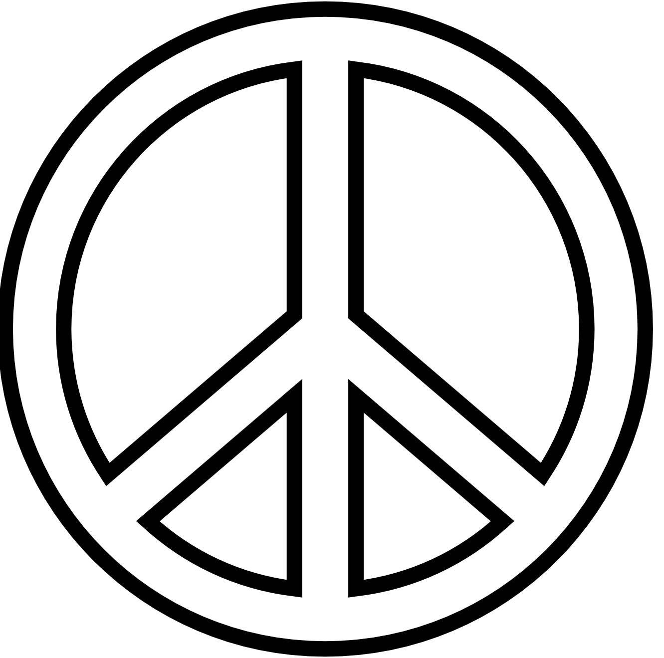 Artistic Symbols: Peace Sign Clipart Black And White
